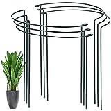 YAIKOAI 6 Stück Pflanzenstütz pfahl, Garten Blumenstütze UV-beständiger Halbrunder Ring käfighalter Rankhilfe Klettergitter für Tomaten Gemüse Blumen Pflanzenanbau Grenzstütze(40 x 24cm)