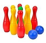 Simba 107223714 - Kegelspiel mit Halterung, 9 Kegel, 2 Bälle, mit Wasser oder Sand befüllbar, Höhe 26cm
