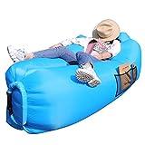 AngLink Luftsofa, 2021 Neu Kissenentwurf Wasserdichtes Aufblasbares Sofa Air Lounger mit 2 Lufteinlass Laybag Outdoor Sofa mit Tragebeutel für Camping Stuhl, Park, Strand, Hinterhof