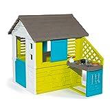 Smoby 810711 – Pretty Haus - Spielhaus für Kinder für drinnen und draußen, mit Küche und Küchenspielzeug (17 teilig), Gartenhaus für Jungen und Mädchen ab 2 Jahren