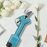 S SMAUTOP Elektrische Gartenschere, 30 mm wiederaufladbare drahtlose elektrische Schere Gartenschere Gartenschere Baum Gartenwerkzeug für Gartenrosen, Zweige