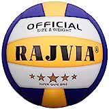 Volleyball, Beach Volleyball, Beachvolleyball, Soft Touch Volley Ball Offizieller Größe 5, Ball für Outdoor Indoor Spiele(Blau& Gelb)