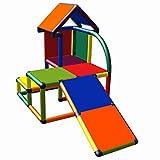 move and stic Mila Spielhaus mit Kleinkindrutsche für Kinderzimmer oder Spielzimmer genauso geeignet wie im Garten Multicolor