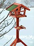 BUSDUGA - Vogelhaus/Futterhaus aus Holz mit Futtersilo 121 x 45 x 30cm, sehr Leichter Aufbau