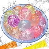 222 Stück Wasserbomben luftballons Water balloons,6 Bündel mit je 37 Wasserbomben,Kein mühsames Füllen und Verknoten von Wasserballons mehr