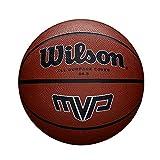Wilson Outdoor-Basketball, Rauer Untergrund, Asphalt, Granulat, Kunststoffboden, Größe 6, 8 bis 12 Jahre, MVP, Braun