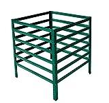 shelfplaza® HOME Komposter garten grün 90x60x60 cm/Kompostierer als Metallkomposter mit bis zu 324L Kapazität/Komposter Metall als Compost Bin & Kompostbehälter/Steck-Komposter für Garten