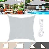 Wokkol Sonnensegel, Sonnenschutz Sonnensegel Wasserdicht, Sonnenschutz Balkon Hergestellt aus Hochwertigem Polyester mit UV Schutz, 160 g/m2 für Garten/Balkon/Terrasse (3M*3M)