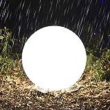 Homever Solarlampen für den Außenbereich, Solarlichtgarten mit Fernbedienung, mit 16 Farben und 4 Lichtmodi, für Pools/Gartenparty/Weihnachten (30cm)