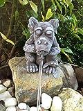 F.W Steinfigur Drache Wasserspeier Garten Deko Steinguss Gartenfiguren Teich