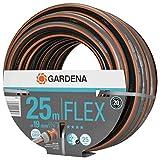 Gardena Comfort FLEX Schlauch 19 mm (3/4 Zoll), 25 m: Formstabiler, flexibler Gartenschlauch mit Power-Grip-Profil, aus hochwertigem Spiralgewebe, 25 bar Berstdruck, ohne Systemteile (18053-20)