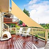 RATEL Sonnensegel Sand 2 × 3 m Dreieck, wasserdicht Windschutz mit 95% UV Schutz Sonnenschutz für Draußen, Patio, Garten Terrasse Camping