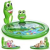 Kaome Wassermatte Baby Wasserspielmatte BPA-frei Groß Große, Aufblasbare Spielmatte Baby Spielzeug ab 3 6 9 Monate Bauchzeit Matte für Baby Frühe Entwicklung Aktivitätszentren