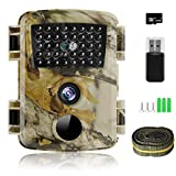 innislink Wildkamera, 1080P 12MP Jagdkamera mit Infrarot Nachtsicht Bewegungsmelder, HD Wildlife Camera mit SD-Karte IP54 Wasserdichter Überwachungskamera für Wildtierüberwachung Jagd Hausüberwachung