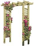 Gartenpirat Eingangspergola 160 x 62 x 210 cm Pergola aus Holz mit Rankelementen