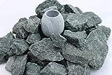 (5 kg. ) Saunasteine Diabas (vorgewaschen) 23-56 mm + Saunakko Saunatasse als SET (pro kg. 5,79 €)