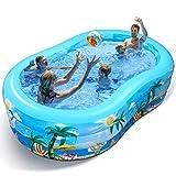Aufblasbarer Pool - Groß Planschbecken für Kinder, Erwachsene, Babys und Kleinkinder, Family Pool Schwimmbecken für Outdoor, Garten, Sommerwasserparty - Aufblasbarer Kinderpool
