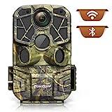 usogood 4K 24MP Wildkamera WLAN Bluetooth mit APP und Infrarot-Nachtsicht Profi Wildtierkamera mit Bewegungsmelder und Zeitraffer zur Tierbeobachtung (Braun)