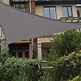 Patio Shack HAIKUS Sonnensegel 5x5x5 Meter Dreieckig Wasserdicht, UV Schutz Polyester Wasserabweisend Sonnenschutz für Garten Balkon und Terrasse, Grau(5 x 5 x 5m)