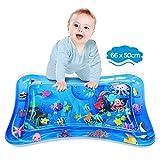 Dusor Wassermatte Baby, Wasserspielmatte BPA-frei, Baby Spielzeug 3 6 9 Monate, Aufblasbare Bauchzeit Matte, Spaßaktivitäten Das Stimulationswachstum Ihres Babys, Kinder Spielzeug Ozean (66 x 50 cm)