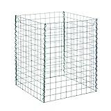 bellissa Gitter-Komposter, verzinkt - 99060 - Kompostbehälter aus Stahlgitter für Garten- und Küchenabfälle - 60 x 60 x 80 cm