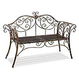 HLC Metall 133 * 49 * 90 cm Bank Gartenbank Ruhebank doppelte Sitz Bronze belastbar auf 200KG