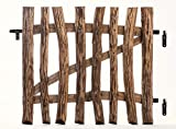 MC.Sammler Imprägniertes Tor Staketentor für Staketenzaun Gartentor aus Haselnussholz Flügeltor mit Scharniere inkl. Zubehör Breite : 100 cm Höhe : 120 cm