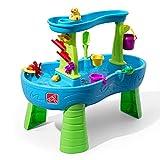 Step2 Rain Showers Wasserspieltisch   Großer Wassertisch mit 13-teiligem Zubehörset   Garten Wasser Spieltisch für Kinder in Blau und Grün