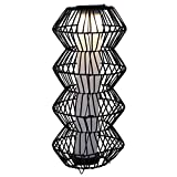 Outsunny LED Solarleuchte, Rattan Garten-Stehleuchte, Kaffee, Ø32 x H76 cm