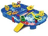 AquaPlay - LockBox - Wasserbahn als Transportkoffer mit 27 Teilen, Spieleset inklusive 1 Hippo Wilma, Amphibienauto und Containerboot, für Kinder ab 3 Jahren