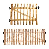 Gartentor-Bausatz Haselnuss 120 Größen • 80-300cm breit • 80-150cm hoch • 3-5 oder 7-9 cm Lattenabstand • Breite 90cm • Höhe 90cm 3-5cm