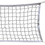HOGAR AMO Volleyball Netz 9.5M x 1 M mit Stahl Seil Faltbare Offizielle Standardgröße Indoor Outdoor Garten Strand Sport Net mit Tragetasche (ohne Gestell)