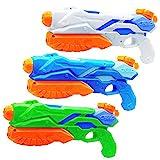 MOZOOSON Wasserpistole Spielzeug für Kinder Draußen ab 3 Jahren mit großer Reichweite10 Meter Pool Water Squirt Guns 3X 300ML Garten Outdoor Toys