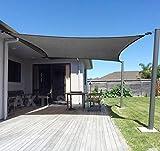 AXT SHADE Sonnensegel Rechteck 3,5 x 4,5m,atmungsaktiv Sonnenschutz HDPE mit UV Schutz für Terrasse, Balkon und Garten- Graphit