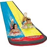 Groß Rasen Wasserrutschen Für Kinder Und Erwachsene, 480 cm Garten Spaß Wassersprühspielzeug Reißfester Wasserrutschmatte Im Freien