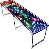 Offizieller Spotlight Beer Pong Tisch   Mit LED Beleuchtung   Offizielle Wettkampfmaße   Beer Pong Table   Kratz und Wassergeschützt   OriginalCup®