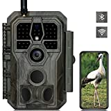GardePro E8 Wildkamera WLAN Bluetooth Antenne 32MP H.264 1296P mit 27M 120 ° Infrarot Nachtsicht Bewegungsmelder Wildtierkamera WiFi Handyübertragung, 0,1S Schnelle Trigger, IP66 Wasserdicht