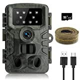 innislink Wildkamera,1080P 20MP Jagdkamera mit Infrarot Nachtsicht Bewegungsmelder, HD Wildlife Camera mit SD-Karte Bildschirm IP66 Wasserdicht Überwachungskamera für Haus Jagd Wildtierüberwachung