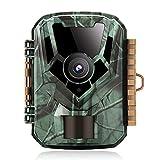 K&F Concept Mini Wildkamera 16MP 1080P SD-K Jagdkamera 850NM Nachtsicht-IR-Infrarot-Fülllicht Machen Sie schnell Aufnahmen in 0.4S IP65 wasserdicht und staubdicht 2.0TFT-Bildschirm AV-Videoausgang TV