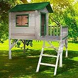 BRAST Spielhaus für Kinder mit Balkon Stelzenhaus'Adventure' 167x191x216cm Kinder-Haus Turm Holz Spielehaus
