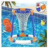 Pool Spielzeug für Erwachsene Kinder Wasserspiele Floating Basketball Korb Hoop Wasserspielzeug Basketballkorb Poolzubehör Spaß ( 2x Bastketballs )