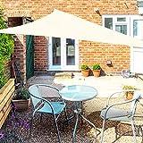 OKAWADACH Sonnensegel, Polyester Sonnensegel Sonnenschutz Garten Balkon und Terrasse wetterbeständig mit UV Schutz Windschutz für Garten Terrasse Camping (Dreieck 2 x 2 x 2m Cremeweiß)