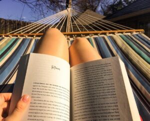 reading, hammock, relax